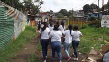 Visita a La Cuenca Acción Social